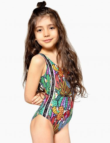 Girls Printed Swimsuit CACTUS
