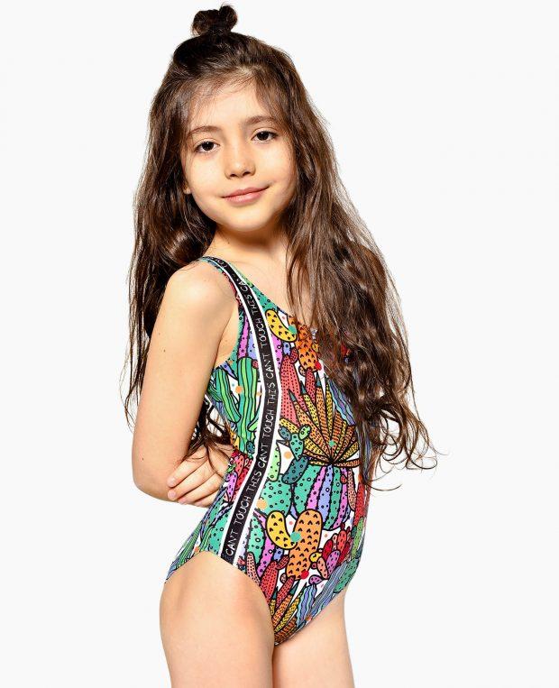 Girls Printed Swimsuit CACTUS