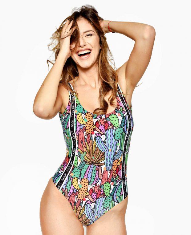 Women's Printed Swimsuit CACTUS