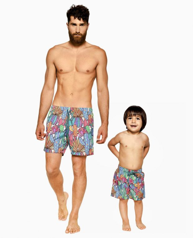 Men's Printed Swim Shorts CACTUS