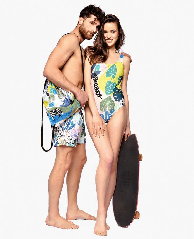 Women's Printed Swimsuit SAFARI
