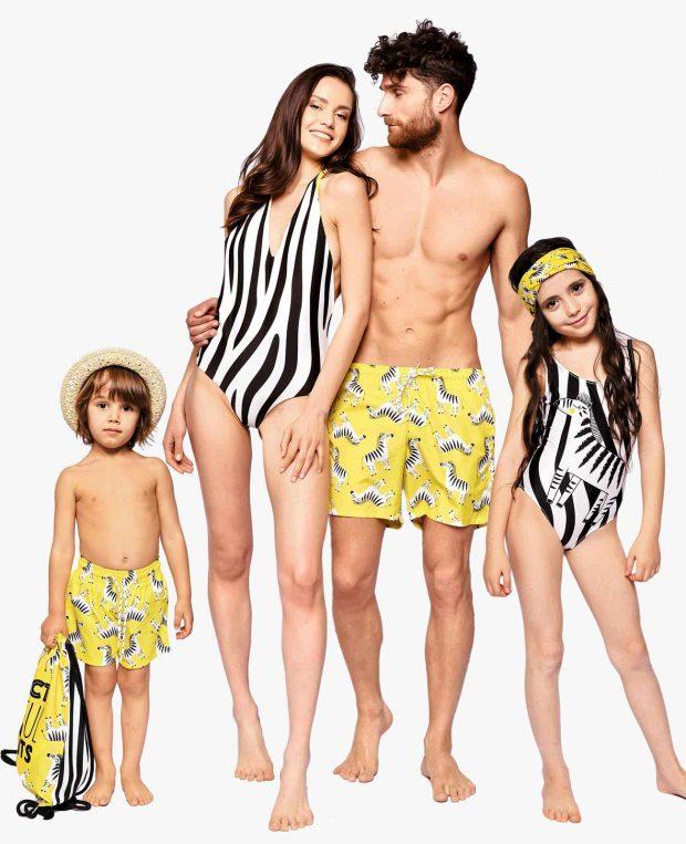 Men's Swim Shorts ZEBRA