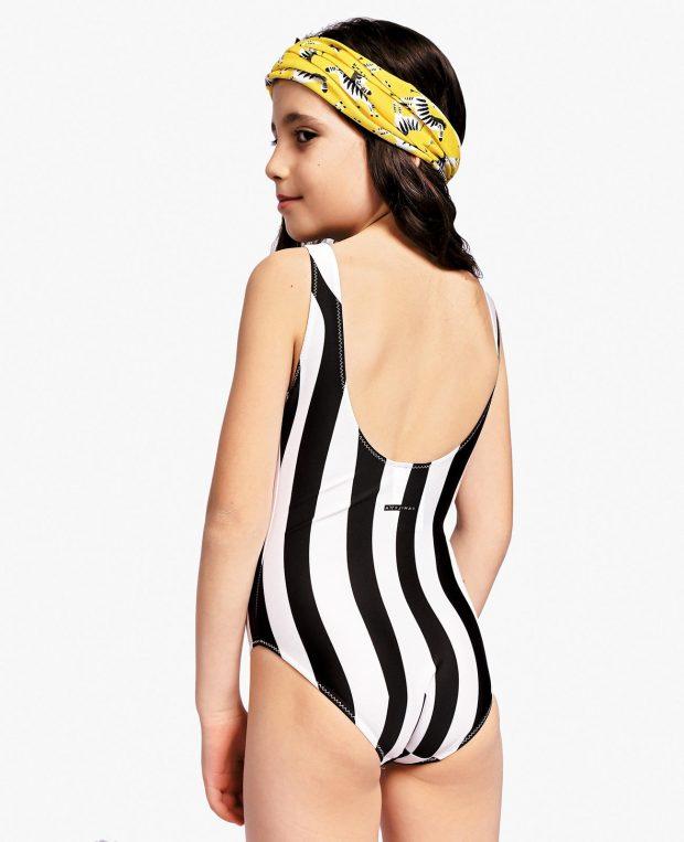 Girls Printed Swimsuit ZEBRA