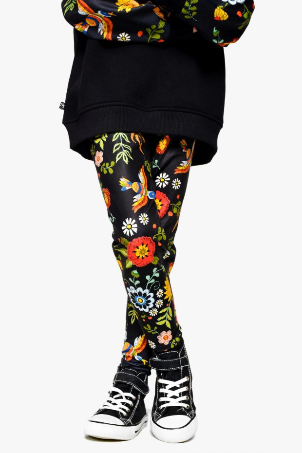 Girls Leggings FLOWER POWER