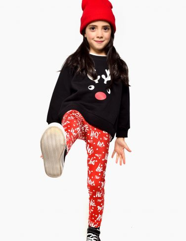 Girls Christmas Leggings HOHOHO