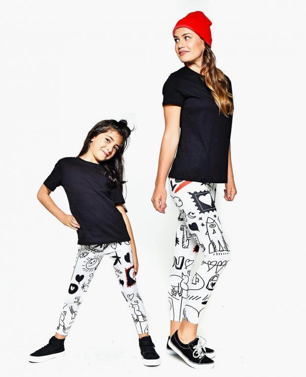 Girls Printed Leggings DOODLE