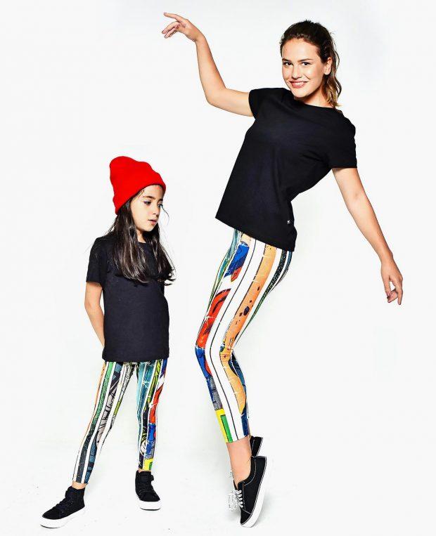 Girls Printed Leggings COMICS