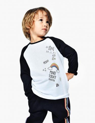 Kids Raglan Shirt RAINBOW