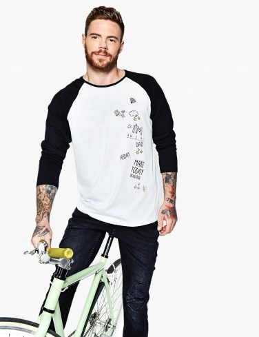 Men's Raglan Sleeve Shirt RAINBOW