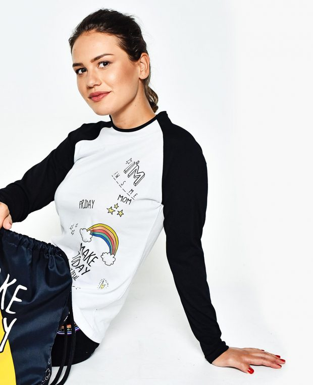 Women's Raglan Shirt RAINBOW