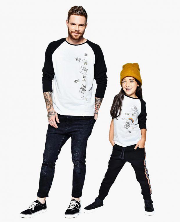 Kids Raglan Shirt RAINBOW