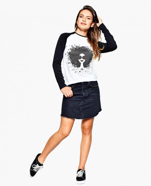 Women's Raglan Shirt NATURE GIRL