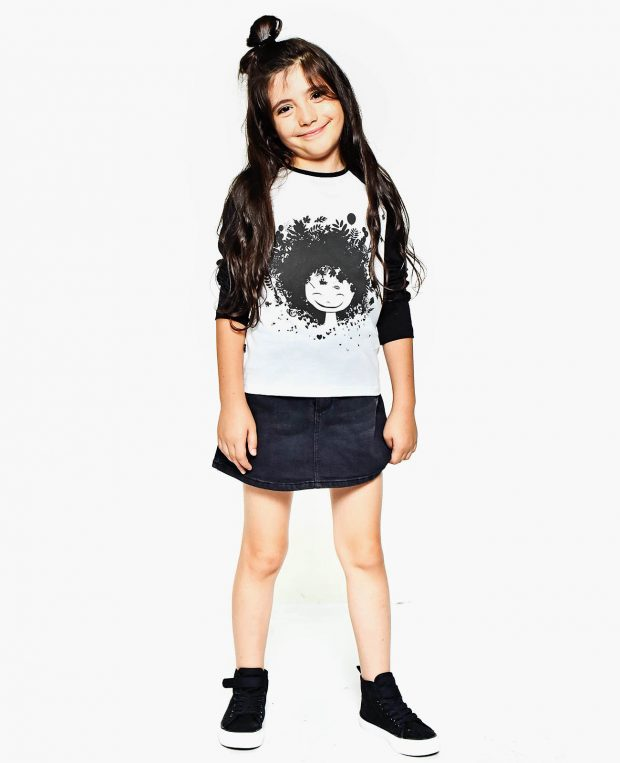 Girls Raglan Shirt NATURE GIRL