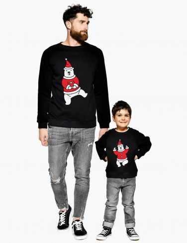 Kids Christmas Jumper DANCING BEAR