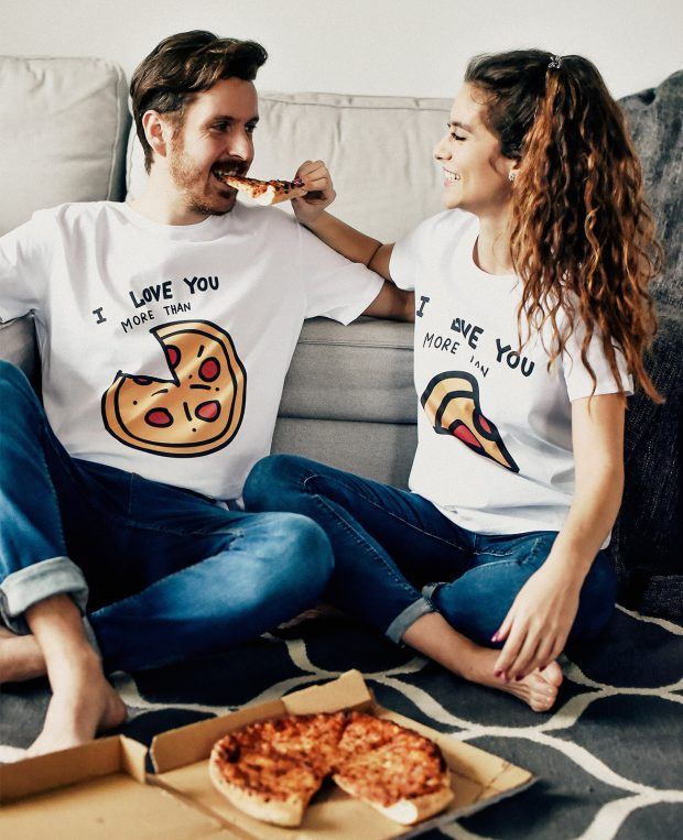 Men's Crew Neck T-Shirt PIZZA