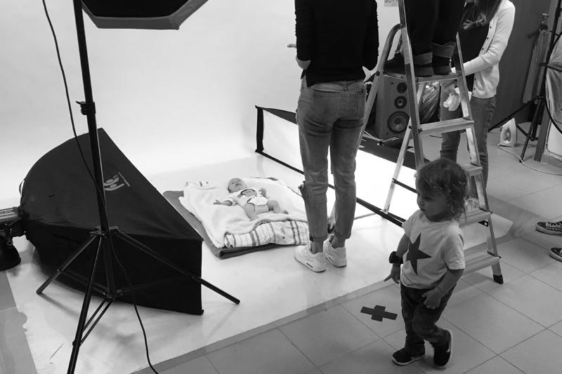 снимки на бебе в студио