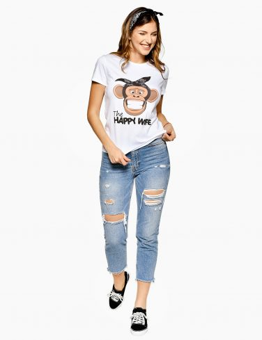 Women's Printed T-Shirt HAPPY LIFE