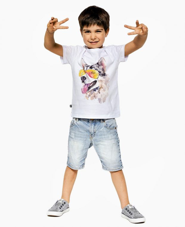 Kids Printed T-Shirt HUSKY