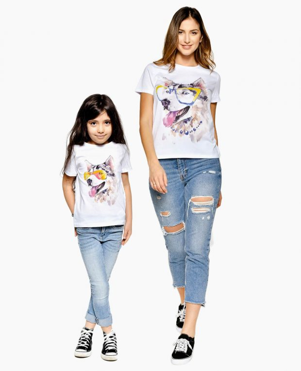 Women's Printed T-Shirt HUSKY