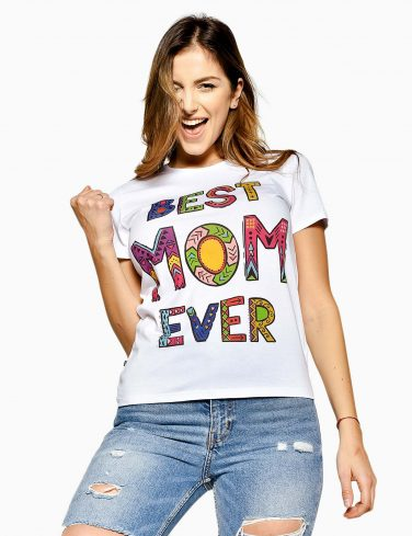 Women's Crew Neck T-Shirt BEST MOM