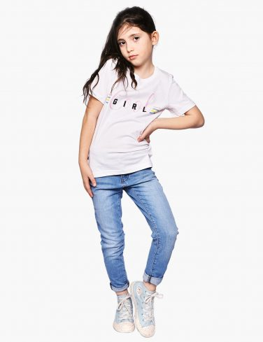 Kids Slogan T-Shirt COOL GIRL