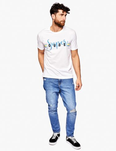 Men's Slogan T-Shirt SUPER DUDE
