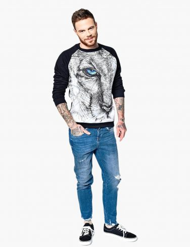 Men's Sweatshirt SKETCHY LION
