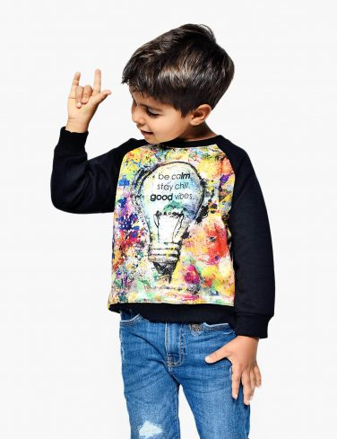 Kids Sweatshirt GOOD VIBES