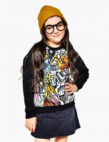 Kids Sweatshirt MUSIC ART