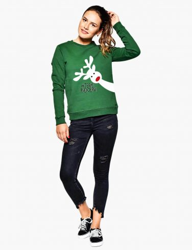 Women's Sweathsirt HAPPY RUDOLF