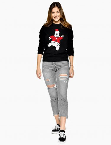 Women's Christmas Jumper DANCING BEAR