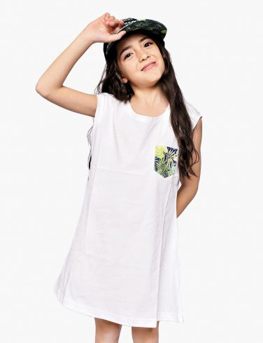 Girls Pocket Dress TROPICANA