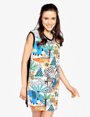Woman Printed Dress AFRICA
