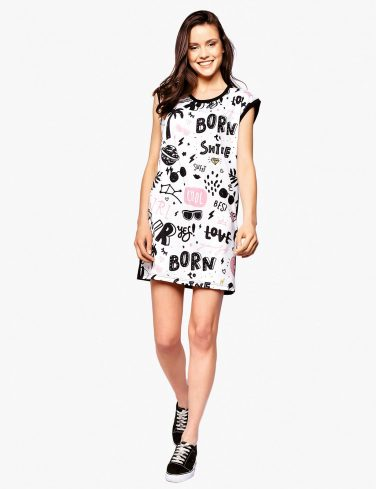 Women's Printed Dress BORN TO ROCK
