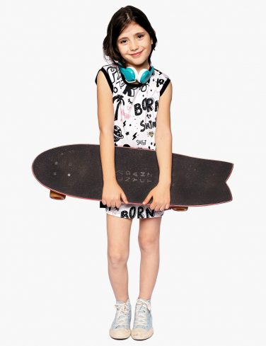 Girls Printed Dress BORN TO ROCK