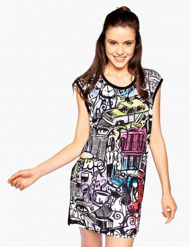 Women's Printed Dress CITY COMICS