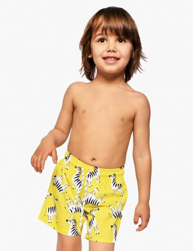 Boys Printed Swim Shorts ZEBRA