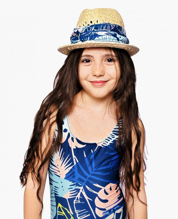 Girls Printed Swimsuit PACIFIC