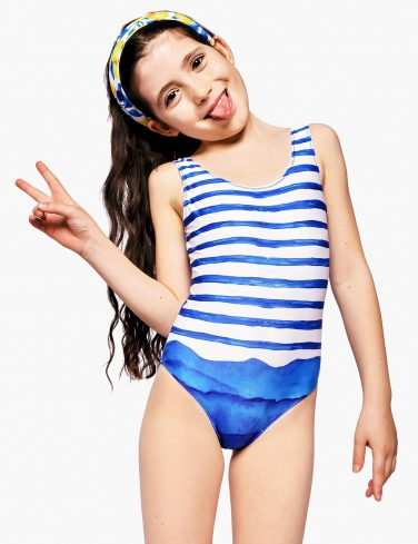 Girls Printed Swimsuit PRINCESS OF THE OCEAN