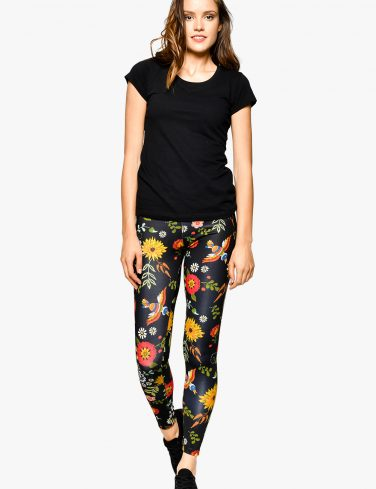 Women's Printed Leggings FLOWER POWER