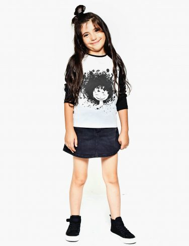 Girls Raglan Shirt NATURE GIRL