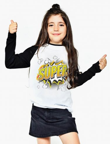 Kids Raglan Sleeve Shirt SUPER