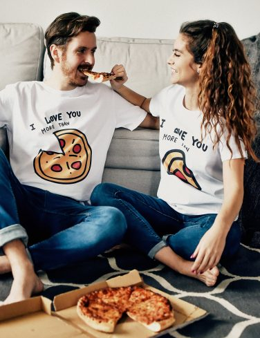 Women's Crew Neck T-Shirt PIZZA