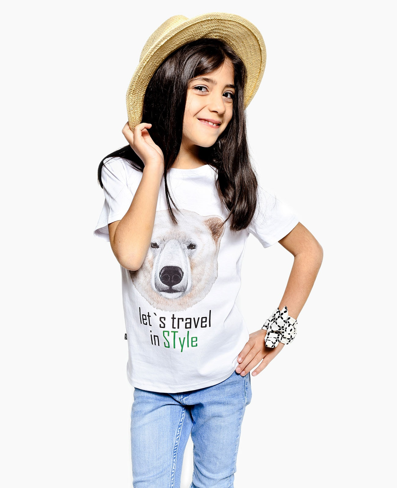 Kids Crew Neck T-Shirt TRAVEL