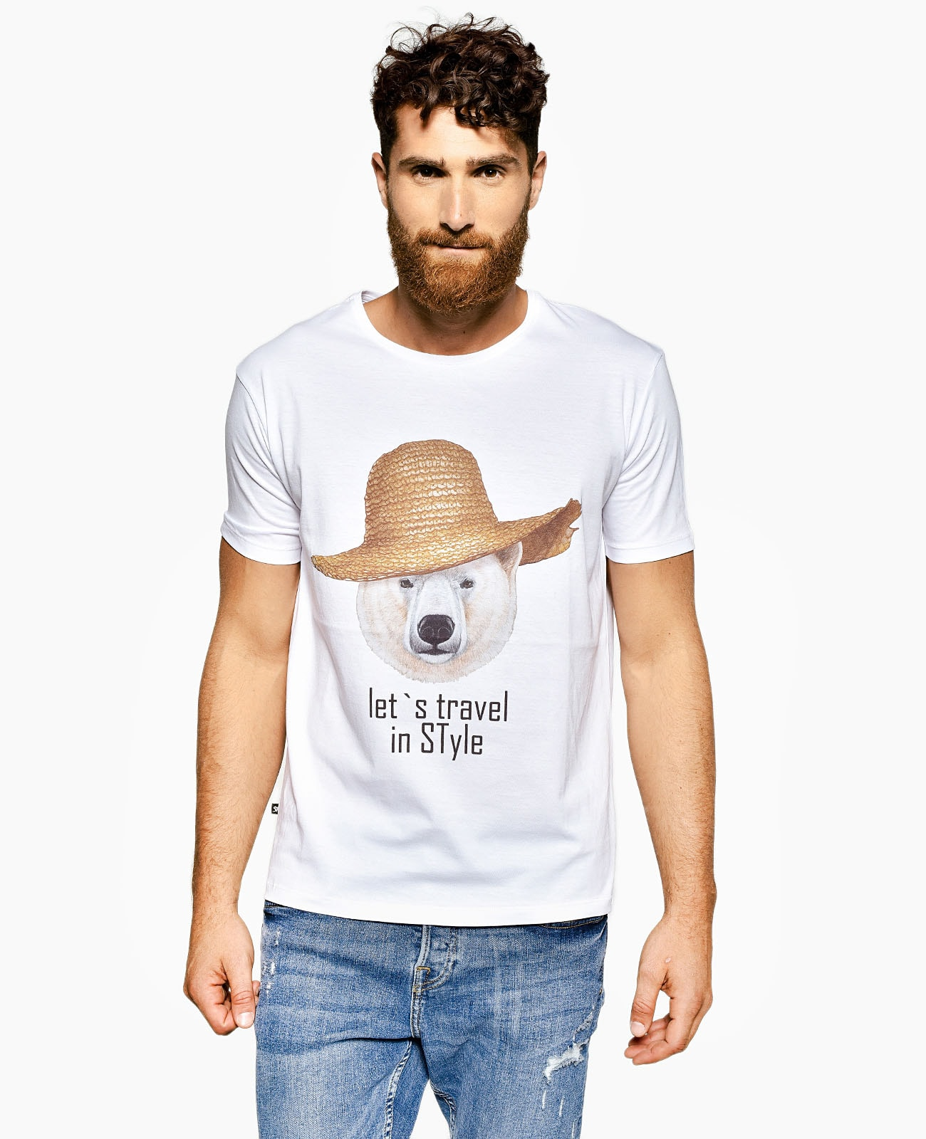 Men's Crew Neck T-Shirt TRAVEL