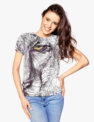 Women's Printed T-Shirt SKETCHY LION