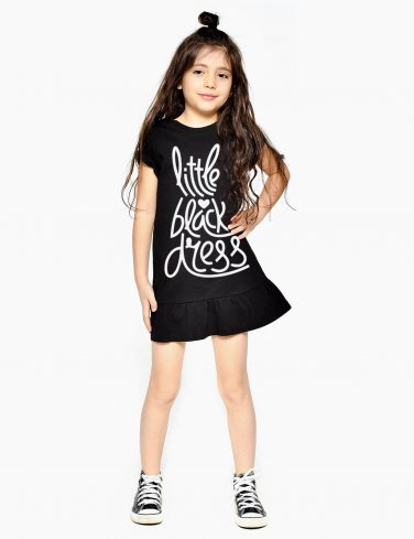 Girls Printed Dress LBD